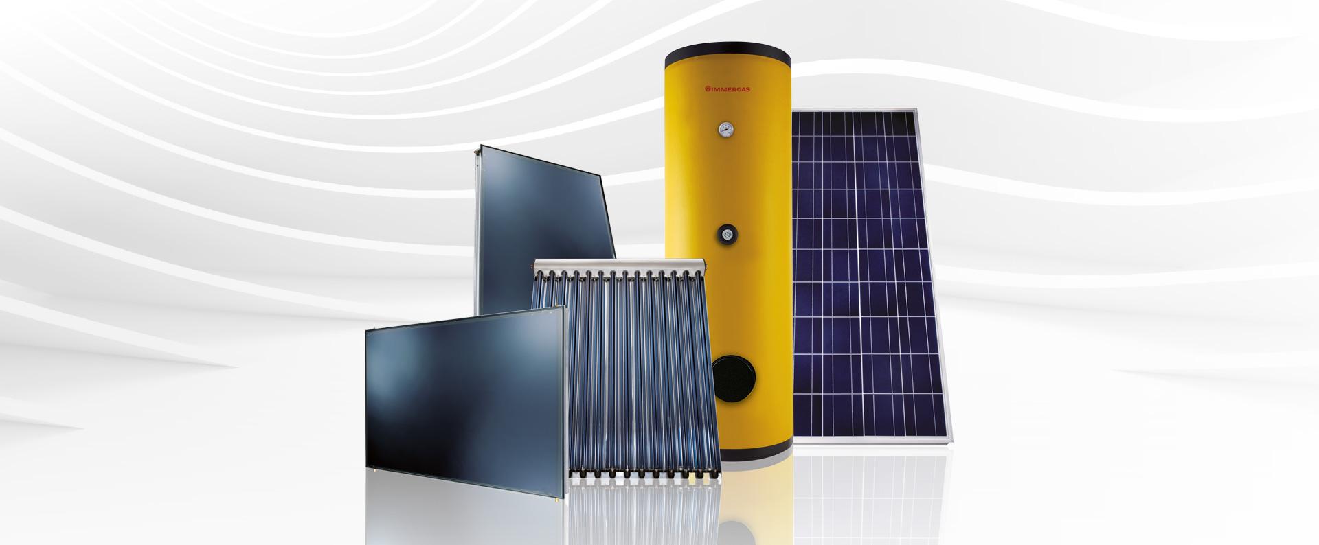 gamma del solare fotovoltaico immergas